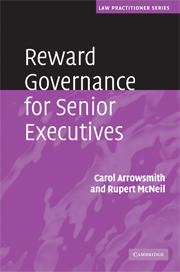 Reward Governance for Senior Executives