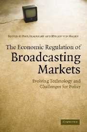 The Economic Regulation of Broadcasting Markets