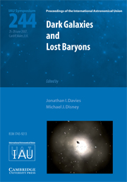 Dark Galaxies and Lost Baryons (IAU S244)