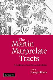 The Martin Marprelate Tracts