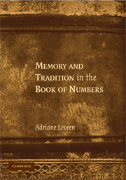 Memory and Tradition in the Book of Numbers