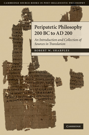 Peripatetic Philosophy, 200 BC to AD 200