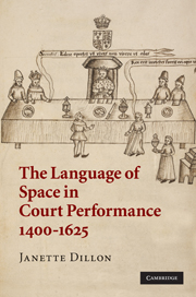 The Language of Space in Court Performance, 1400–1625