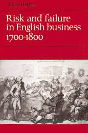 Risk and Failure in English Business 1700–1800