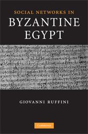 Social Networks in Byzantine Egypt