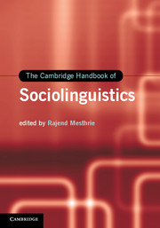The Cambridge Handbook of Sociolinguistics
