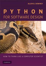 Python For Software Design By Allen B Downey