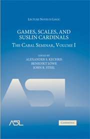 Games, Scales and Suslin Cardinals