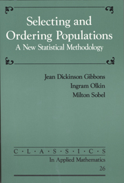 Selecting and Ordering Populations
