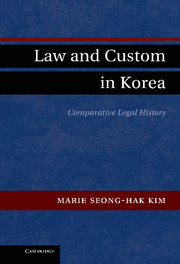 Law and Custom in Korea