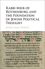 Rabbi Meir of Rothenburg and the Foundation of Jewish Political Thought