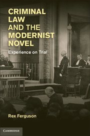 Criminal Law and the Modernist Novel