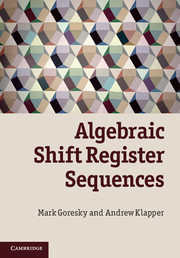 Algebraic Shift Register Sequences