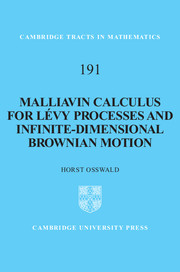 Malliavin Calculus for Lévy Processes and Infinite-Dimensional Brownian Motion