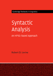 Syntactic Analysis