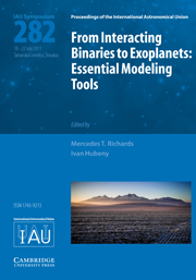 From Interacting Binaries to Exoplanets (IAU S282)