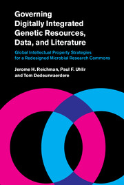 Book cover for Governing Digitally Integrated Genetic Resources, Data, and Literature
