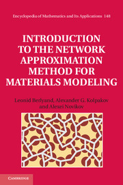 Introduction to the Network Approximation Method for Materials Modeling