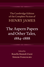 The Aspern Papers and Other Tales, 1884–1888