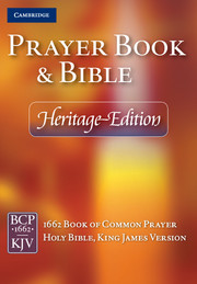Heritage Edition Prayer Book and Bible, Purple Calf Split Leather, CPKJ424