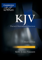 KJV Pocket Reference Bible, Black French Morocco Leather, Thumb Index, Red-letter Text, KJ243:XRI