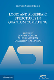 Logic and Algebraic Structures in Quantum Computing