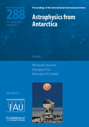 Astrophysics from Antarctica (IAU S288)