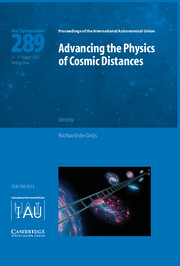 Advancing the Physics of Cosmic Distances (IAU S289)