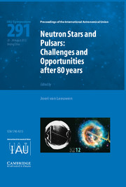 Neutron Stars and Pulsars (IAU S291)