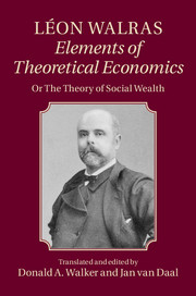 Léon Walras: Elements of Theoretical Economics