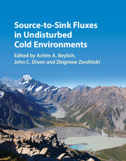 Source-to-Sink Fluxes in Undisturbed Cold Environments