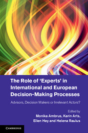 The Role of 'Experts' in International and European Decision-Making Processes
