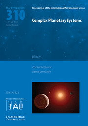 Complex Planetary Systems (IAU S310)