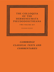 The Colloquia of the Hermeneumata Pseudodositheana
