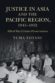 Justice in Asia and the Pacific Region, 1945–1952