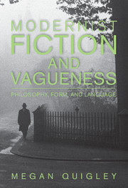 Modernist Fiction and Vagueness