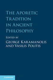 The Aporetic Tradition in Ancient Philosophy