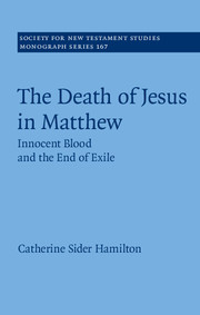 The Death of Jesus in Matthew