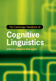 The Cambridge Handbook of Cognitive Linguistics