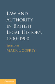Law and Authority in British Legal History, 1200–1900