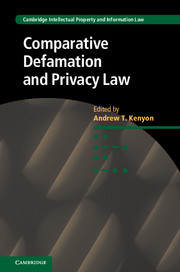 Comparative Defamation and Privacy Law