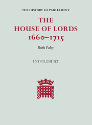 The House of Lords, 1660–1715