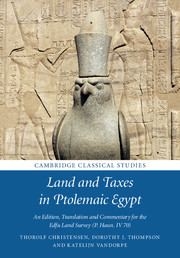 Land and Taxes in Ptolemaic Egypt