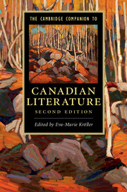 The Cambridge Companion to Canadian Literature