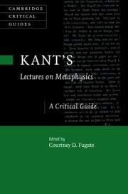 Kant's Lectures on Metaphysics