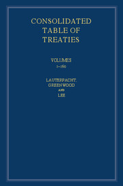 International Law Reports, Consolidated Table of Treaties