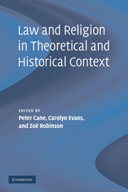 Law and Religion in Theoretical and Historical Context