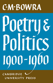 Poetry and Politics 1900–1960