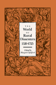 The World of Rural Dissenters, 1520–1725