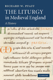 The Liturgy in Medieval England